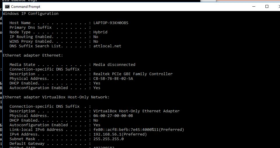 command prompt norsk
