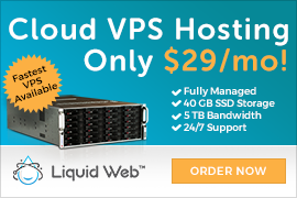 Liquid Web | Fastest cloud vps hosting - $29 per month